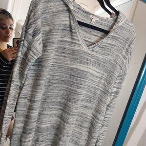 Sonoma v neck marked knit hoodie